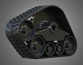 3D model Rubber Track System 3 - Combine Harvester - 1