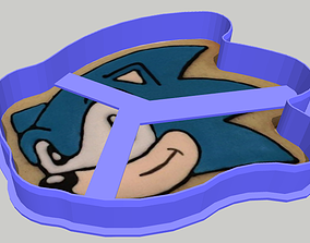 biscuit 3D print model Sonic Cookie Cutter