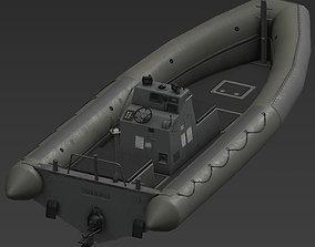 RHIB boat 3D asset low-poly