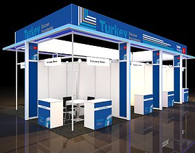 country participation stand according to 12x6 3D model