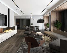 Apartment livingroom modern 3D model tradition-livingroom