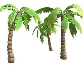 palmtree 3D asset Cartoon Palm Tree