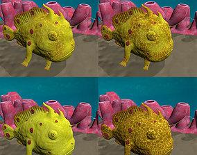 Antennarius low-poly with custom 3D asset