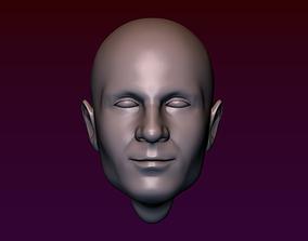3D print model Male Head 3 - Bald Head