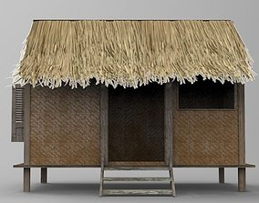 Indonesian Traditional House 3D asset