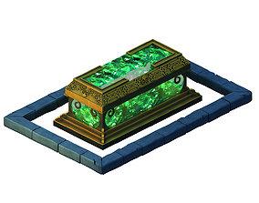 jar Ghost Mountain - Bronze Crystal Coffin 3D