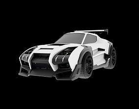 rigged Takumi RX-T Rocket League 3D model FREE
