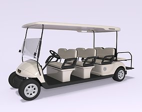 electrical 3D Large Golf Cart 2