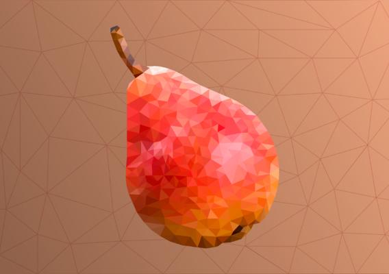 Lowpoly pear