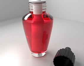 Air Freshener Bulb Unscrew Cap with Red Liquid 3D