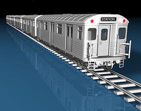 Subway train 3D model