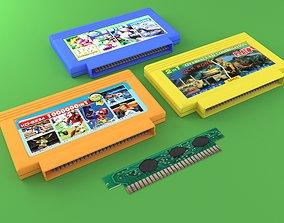 Cartridges for Dendy 8 bit 3D model