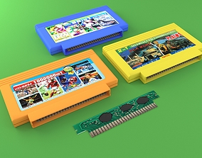 Cartridges for Dendy 8 bit 3D model