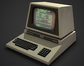 3D model Retro computer Game Ready