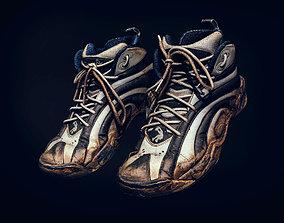 shoelace 3D model Old Reebok scan