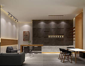 Office reception hall Leisure Area Administrative Area 3D