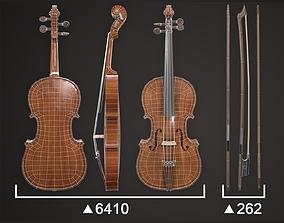 Violin Game ready 3D asset