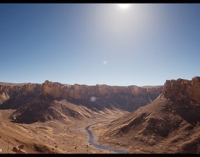 3D asset Canyon Landscape - B