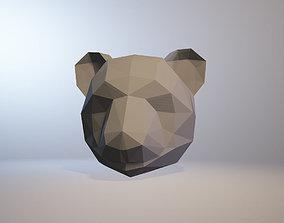 low-poly panda model