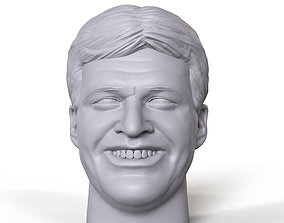 Jacques Rougeau 3D printable portrait sculpture