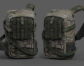 low-poly Backpack military combat soldier armor scifi 2