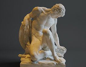 Dying Gladiator - Musee du Louvre 3D printable model 1