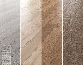 3D model Wood Floor Set 04