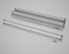 3D Fluorescent Lights Collection