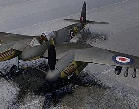 3D DeHavilland Hornet F Mk-1
