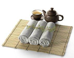 3D Spa Tea Cup Pot Plant with Hot Towel