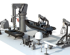 3D model Military ship equipment asset
