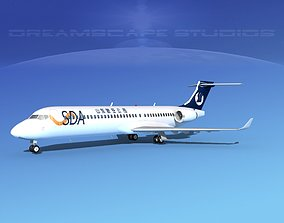 3D Comac ARJ21-700 Shandong Airlines