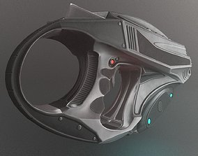 Futuristic Handgun 3D model animated VR / AR ready