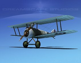 3D model rigged Sopwith Camel biplane