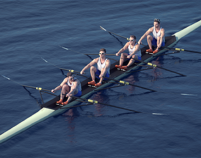 3D model Rowers Group 10913 - Rowers with Boat