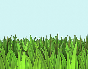 Grass Lowpoly Pack 3D model