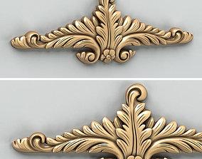 Carved decor horizontal 018 3D
