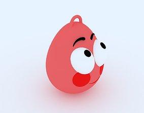 3D print model Shy Emoji KeyChain