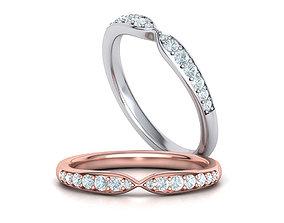 Diamond wedding band ring 3dmodel