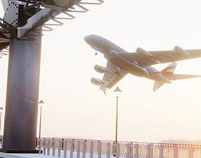 Emirates Airbus Scene 3D asset