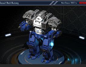 Assault Mech Mustang 3D model
