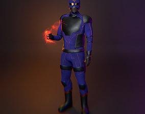 Superhero 3D model low-poly