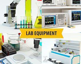 Lab equipment set 2 3D
