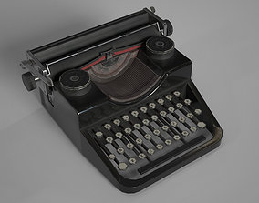 Low Poly Typewritter game ready 3D asset