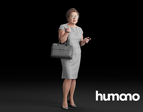 3D model Humano Elegant Woman Standing and talking 0314