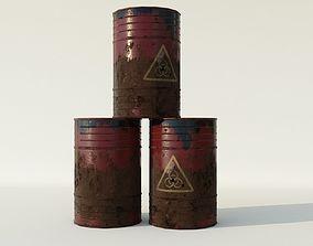 VR / AR ready Toxic Barrel Low Poly 3D Model