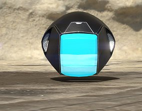 space Military helmet 3D asset