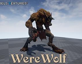 3D model WereWolf for UNREAL