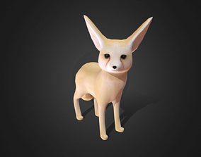Low poly Fennec Fox - Idle Animated 3D model