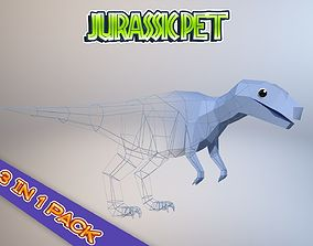 3D model Low-Poly Dino Pack